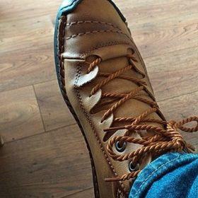 Hot Sale Men's Vintage Leather Boots photo review