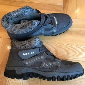 Man's Winter Thermal Velvet Velcro Buckle Trendy Joker Hiking Sneakers - varskarc photo review