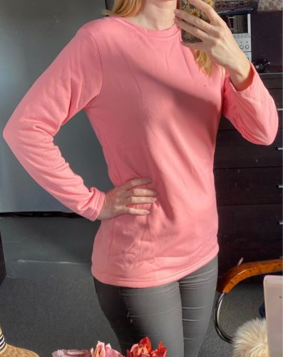 2020 NEW Casual Fleece-blend Round Neck Solid Sweatshirt (S-5XL) photo review