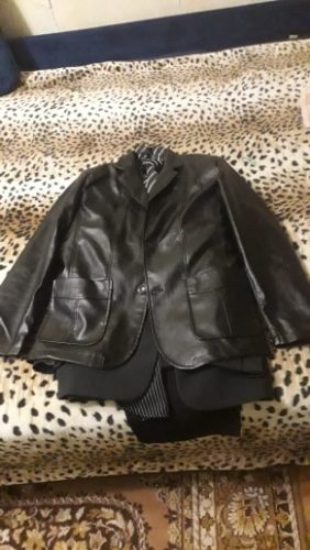 Men Genuine Leather Blazer Jacket photo review